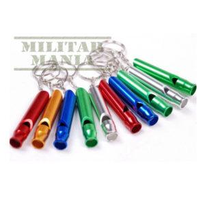 Apito de sobrevivência em alumínio metal colorido com argola para chaveiro