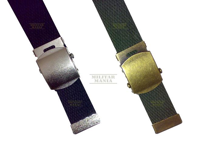 Cinto Modelo Militar Policial Exército em Nylon Grosso e Resistente Preto ou Verde Oliva