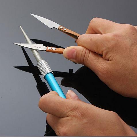 Caneta Amolador Afiador Diamantado para Facas Canivetes Tesouras